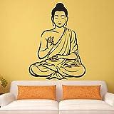 wZUN Decoración de Pared de Buda Vinilo India decoración de Pared de Buda Estatua de Buda Arte religioso Yoga Pegatinas de Pared decoración del hogar 50X37 cm