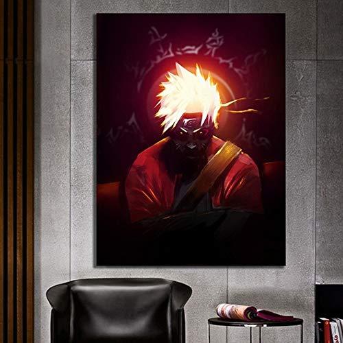 tzxdbh Anime Poster Print Uzumaki Naruto und Uchiha Sasuke Naruto Leinwand Malerei für Home Schlafzimmer Dekor Wandkunst Bild Ungerahmt