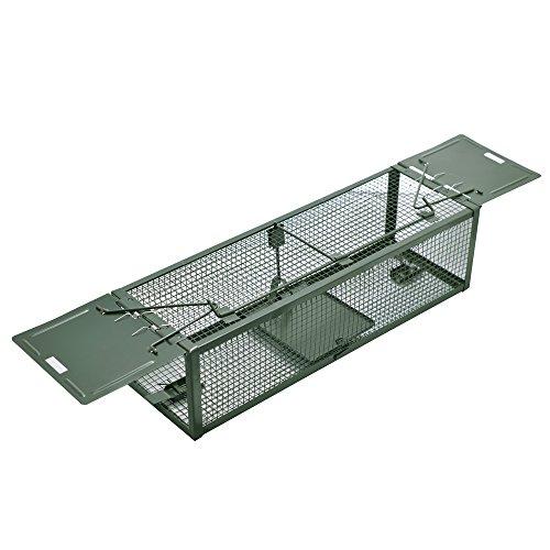 Pronghorn Humane Rat Trap Live Animal Cage Control de roedores con 2 puertas para ratón ardilla ardilla 38,6 x 12,4 x 10,7 cm