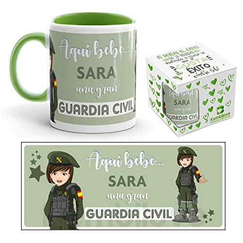 Kembilove Taza de Café de la Mejor Guardia Civil del Mundo Personalizada con el Nombre – Taza de Desayuno para la Oficina – Taza de Café y Té para Profesionales – Taza Impresa para Guardias Civiles
