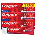 Colgate Optic White Whitening Toothpaste, Icy Fresh - 5 ounce (3 Pack)