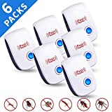 TEcoArt Ultrasonic Pest Repeller 6 Packs,2020 Newest Pest Control Electronic Plug in Pest Repellent Indoor for Flea, Insects, Mosquitoes, Mice, Spiders, Ants, Rats, Roaches, Bugs, Child and Pets Safe