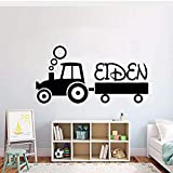 Pegatinas De Pared Tractor Infantil Decoración Creativa Para Niños Habitación Tractor Modo Vinilo Pared Arte Apliques Regalo 57X29cm