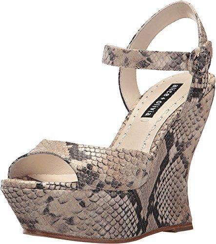 Alice + Olivia Jana Natural Animal Print Platform Sandals (39 M EU)