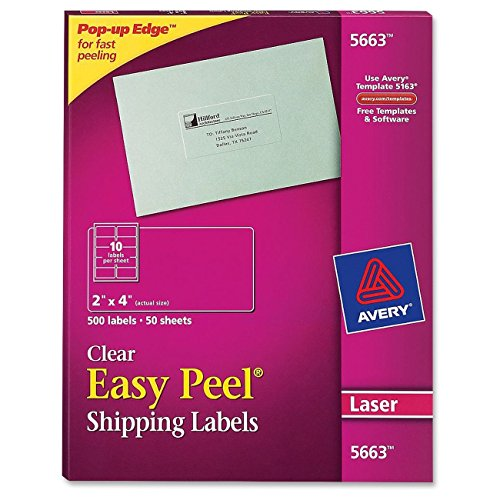 Avery Matte Frosted Clear Address Labels for Laser Printers, 2