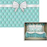 7x5ft Breakfast at Tiffanys Party Background Mint Green Photo Backdrop Pony Home Banner Tiffany and co Banner Back Drop FW-2023
