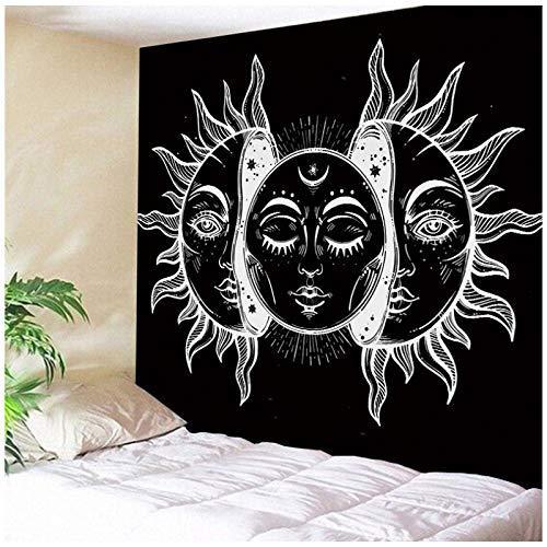 CNYG Moon Sun Tarot Series Tapiz Hippie Decoración para el hogar Tapiz Manta de Pared 7 230 * 180CM