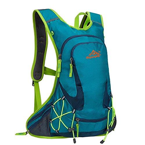reiten fahrrad fahren oder rucksack tasche rucksack flüssigkeitszufuhr rucksack für outdoor - sportarten laufen reisen bergsteigen mit helm netto wasserdicht atmungsaktive ultralight 18l 5farben , blue