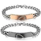 JewelryWe Bijoux 2PCS Bracelet Amour d'Amitié Cadeau de Sai