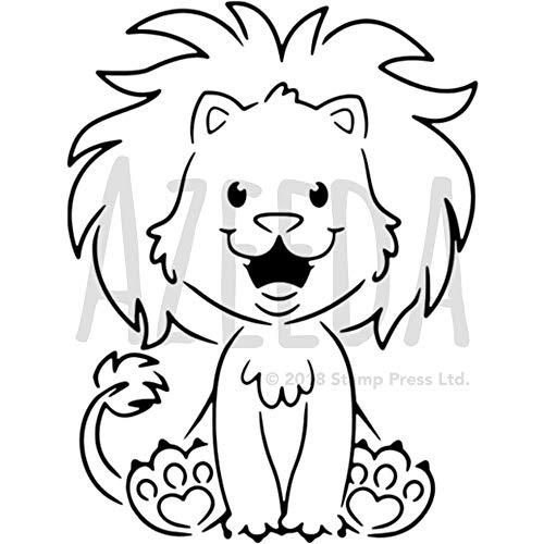 Azeeda A5 'Glücklicher Löwe' Wandschablone / Vorlage (WS00005524)