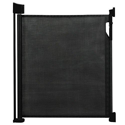 Safetots - Puerta de seguridad retráctil negra 0cm - 120cm