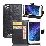 Manyip Coque Xiaomi Redmi 4A, Téléphone Coque - PU Cuir Rabat Wallet Housse [Porte-Cartes]...