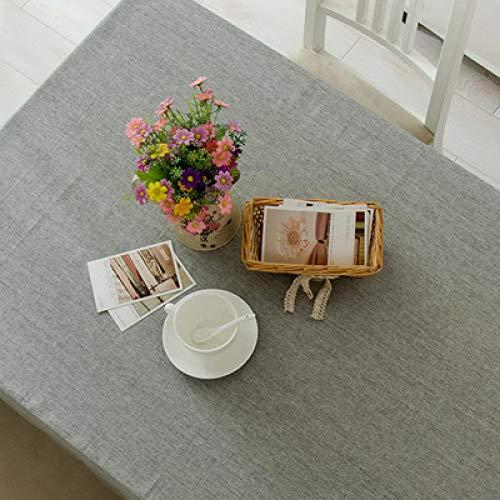 Baumwoll Leinen Tischdecke wasserdicht Party Bankett Outdoor Tischdecke einfarbig Nickerchen Tischdecke Abdeckung Tischdecke