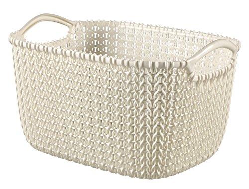 Curver Knit Cesta Rectangular S, Blanco Oasis, 27.6x20.2x15.2 cm (230012)