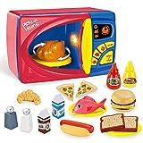JOYIN 25 Pieces Microwave Cooking Kitchen Food Pretend Play Toy Playset, Play Food Kitchen Playset...