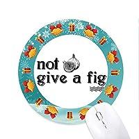 面白いキャッチワード 円形滑りゴムのマウスパッドクリスマスプレゼント