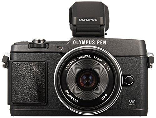 Olympus E-P5 Systemkamera (16 Megapixel, 7,6 cm (3 Zoll) Touchscreen, HDMI, WiFi) inkl. 17mm 1:1.8 Objektiv Kit und hochauflösender VF-4 elektronischer Sucher schwarz