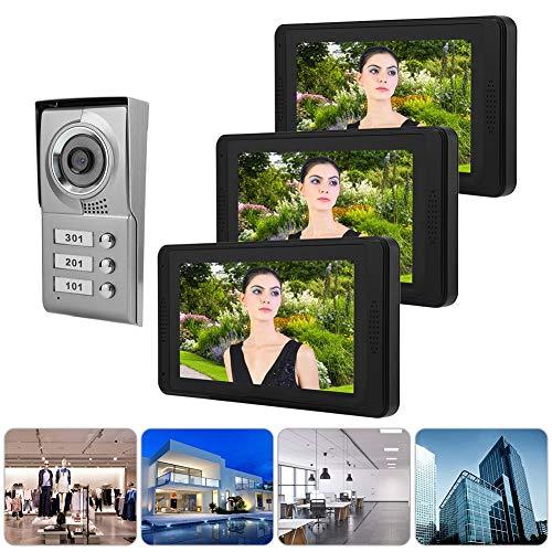 Timbre de videoportero, timbre de teléfono, timbre de monitor para observar a los visitantes Sistema de seguridad para el hogar Grabación de video(European standard (110-240V), Transl)