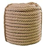 XBSXP Cuerda de Seguridad, Cuerda de cáñamo, Cuerda de Yute Natural, Cuerda Antigua de imitación para Exteriores, Longitud 10 m, Adecuada para Manualidades, paisajismo Decorativo, Tira y