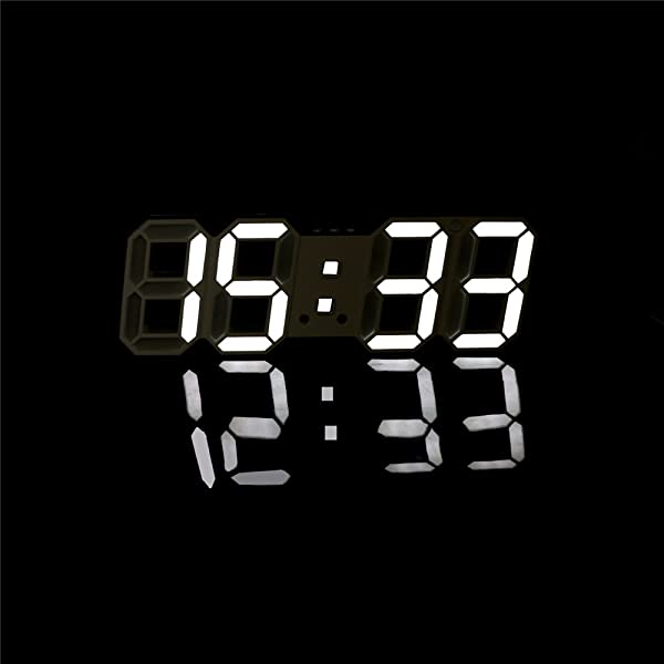 ARDUX LED Wall Clock LED Multifunctional Digital Wall Clock 12H 24H Time Display With Alarm And Snooze Function Adjustable Luminance
