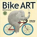 "Bike Art 2020 Mini Wall Calendar: In Celebration of the Bicycle (7"" x 7"", 7"" x 14"" open)"