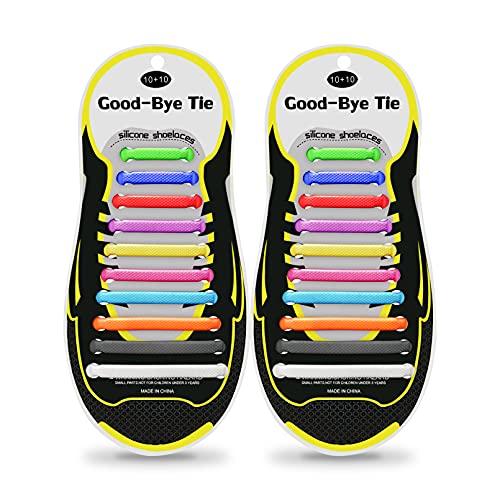 iYuePeng 20 pezzi Lacci in Silicone Impermeabili per Bambini e adulti, Moda, Rimbalzante, Facile da inserire e pulire, Utilizzato per Scarpe Sportive Scarpe Casual