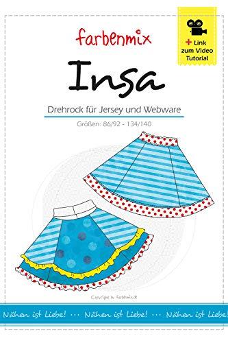 Insa Farbenmix Schnittmuster (Papierschnittmuster für die Größen 86/92 - 134/140), Rock