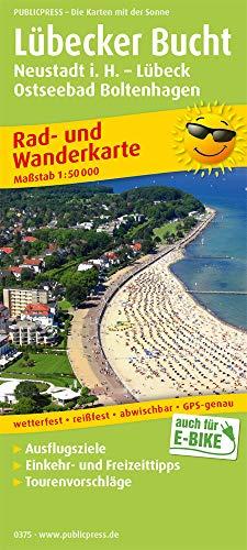 Lübecker Bucht, Neustadt i. Holstein - Lübeck, Ostseebad Boltenhagen: Rad- und Wanderkarte mit Ausflugszielen, Einkehr- & Freizeittipps, wetterfest, ... 1:50000 (Rad- und Wanderkarte / RuWK)