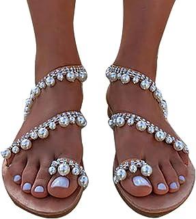 qualità incredibile rapporto qualità-prezzo gamma molto ambita di Amazon.it: Sandali con perle - Sandali / Scarpe da donna ...