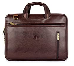 The Clownfish Elegant 15.6 Inch Faux Leather Chocolate Laptop Briefcase(Chocolate Brown),The Clownfish,TCFLBFL-I156CHO15