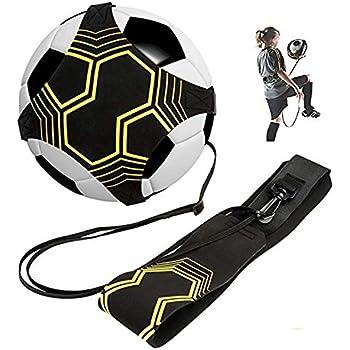 Fit for Size 3//4//5 Ball le contr/ôle de la balle et les habilet/és en solo PodiuMax Football Kick Trainer mains libres am/éliore les passes au football
