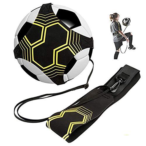 BJ-SHOP Fußball Trainer,Soccer Trainer Solo Geschick Praxis Universal Passt # 3# 4#5 Fußballe fur Kinder,Erwachsene