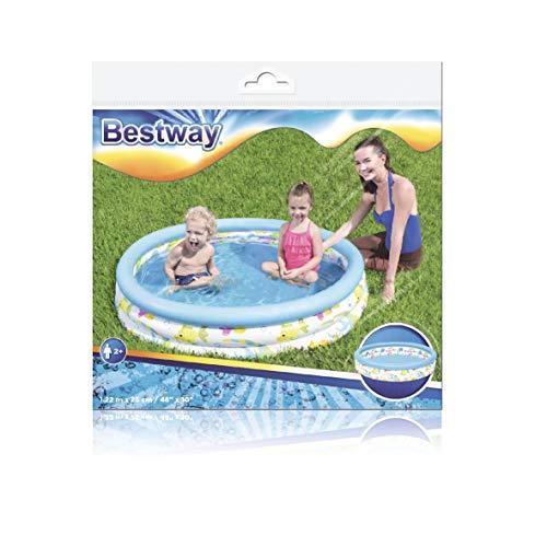 Bestway 51009 Piscine gonflable ronde Ocean Life 3 boudins 122 x 25 cm
