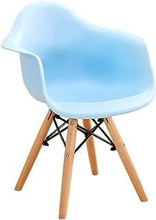 Comer Fundas para sillas de Respaldo Alto Sillón de plástico Retro Patas de Madera Oficina Cocina Salón Dormitorio Silla A...