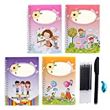 Liamostee Magic Calligraphy That Can Be Reused Handwriting Copybook Set for Kid Calligraphic Letter Writing