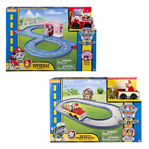 Paw Patrol Rocky's Barn Rescue Track - Pistas para vehículos de juguete, modelos surtidos, 1 unidad