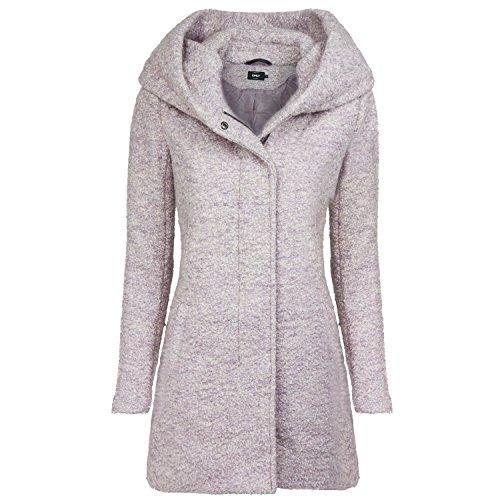 ONLY Damen onlINDIE NOMA Wool Coat CC OTW Mantel, Beige (Warm Taupe Detail:Melange), 42 (Herstellergröße: XL)