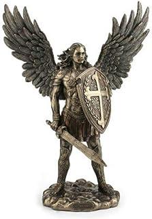 CAPRILO Figura Mitológica Decorativa de Resina San Miguel Adornos y Esculturas. Decoración Hogar. Regalos Originales. 35 x...