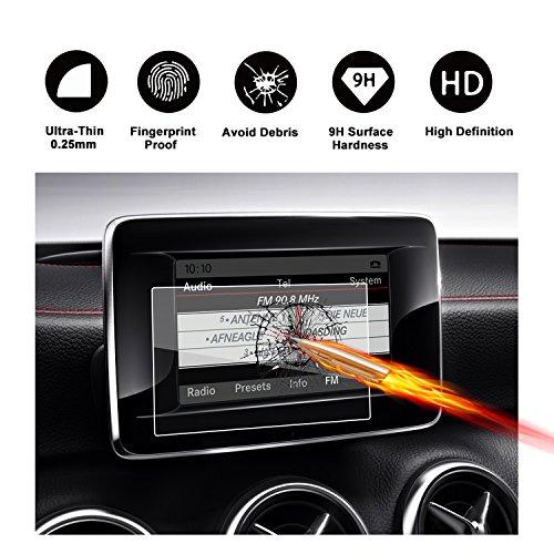 Gehard glas beschermfolie voor het navigatiesysteem van (2016)(2017) Mercedes AMG B-Klasse II(W246) onzichtbare displaybeschermfolie schermfolie glasfolie transparante folie RUIYA