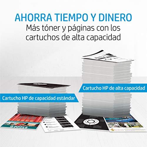 HP 203X CF540X Negro, Cartucho Tóner de Alta Capacidad Original, de 3.200 páginas, para impresoras HP Color LaserJet Pro serie 254, 280 y 281