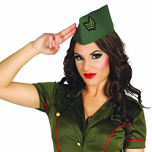 Amakando Bundeswehr Schiffchen Militärmütze Army Cap Damen Kappe Soldatin Kostüm Accessoire Offizier Militär Kopfbedeckung Armee