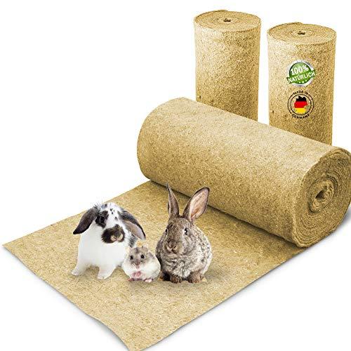 Nagerteppich aus 100% Hanf auf Rolle mit 5m Länge, 80cm Breite, 10mm dick, Hanfteppich für alle Arten Kleintiere, Hanfmatte Nagermatte Nager-Teppich Einstreu-Ersatz