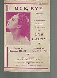 Partition Bye bye par Lys Gauty