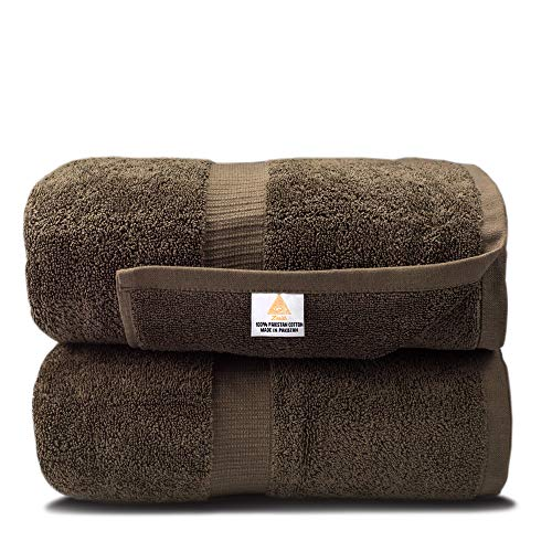 Zenith Luxury Bath Sheets - (2 Piece) Extra Large Size 40 X 70 Luxury Bath Sheets, Beach Towels, 600 GSM, Towels Bathroom Sets Clearance, Extra Large Bath Towels ,100% Cotton