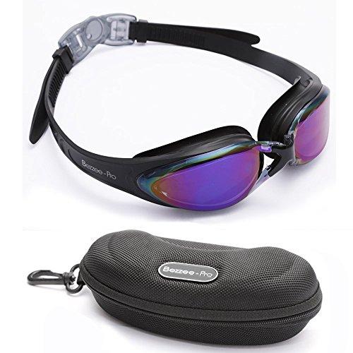Gafas de natación con puente flexible de punta suave y de espejos coloreados, libre de fugas. Gafas de natación de triatlón para hombres, adultos, mujeres, y jóvenes