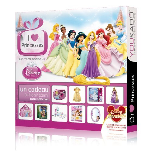 Coffret cadeaux Disney Princesses - Coffret YOUKADO - I Love Disney Princesses One