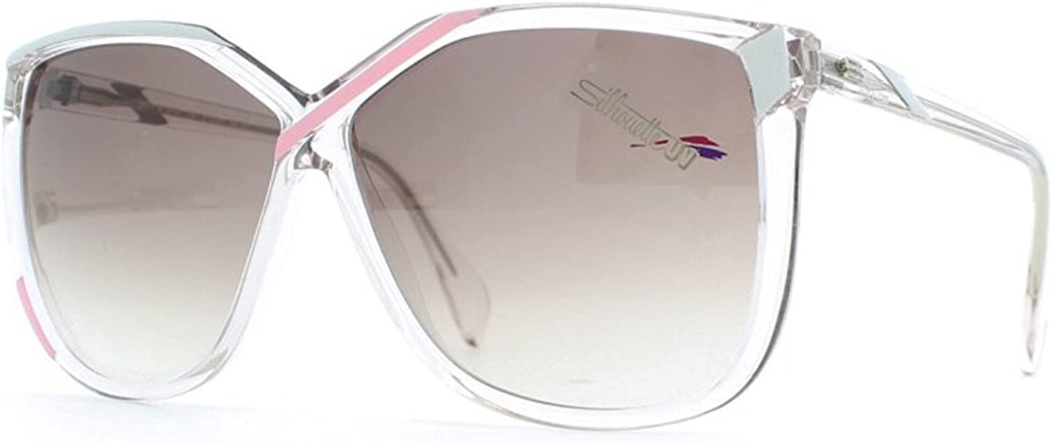 Silhouette 3078 1314 Clear Certified Vintage Rectangular Sunglasses For Womens