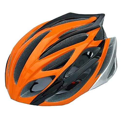 Casco de ciclismo de carretera ligero ajustable para casco de seguridad naranja...
