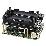 Raspberry Pi 4モデルB / 3B + / 3B用Raspberry Pi UPS電源無停電UPS HAT 18650バッテリー充電器電源銀行電源管理拡張ボード5V