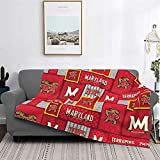 Maryland Terrapins University Ultra-Soft Micro Fleece Throw Blankets Lightweight Warm Super Soft Let Your Cold Winter Feel The Warmth of The Stove